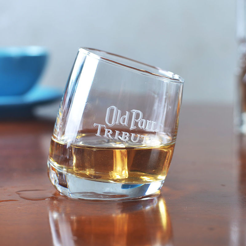 Old Parr Colombia Whisky Tumbler Glass , 300ml/10oz Promotional Whiskey Glasses