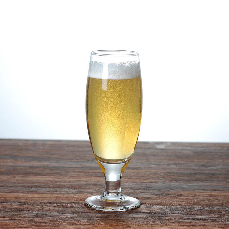 Tall Narrow Body Fluted Beer Glass For Amstel Light EEC FDA Certification supplier