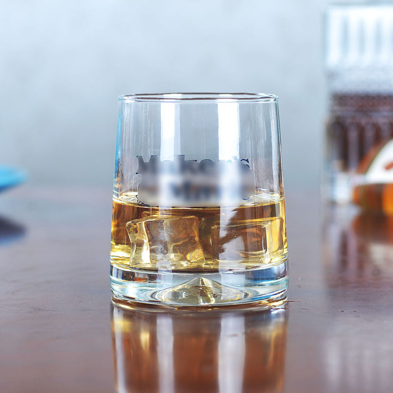 Classic Whiskey Promotional Drinking Glasses With Printing / Sandblasting Logo